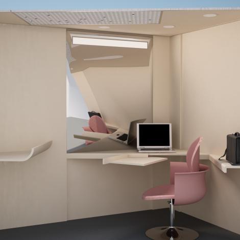 модуль для годування малюків та зціджування в офісі в розрізі